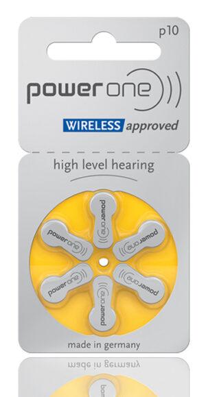 POWER ONE μπαταρίες ακουστικών βαρηκοΐας P10