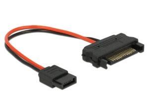 DELOCK Cable SATA 15pin σε SATA 6pin