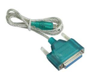 POWERTECH καλώδιο USB 2.0 σε RS232 25pin (F)