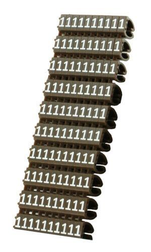 POWERTECH Clip αρίθμησης καλωδίου Νο 1