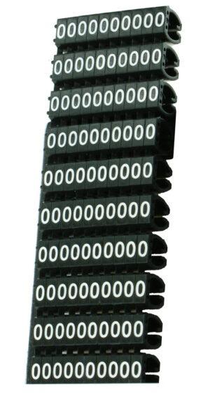 POWERTECH Clip αρίθμησης καλωδίου Νο 0