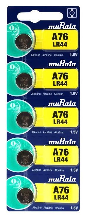 MURATA Αλκαλικές μπαταρίες ρολογιού LR44 MR-LR44
