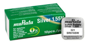 MURATA μπαταρία Silver Oxide για ρολόγια SR616SW