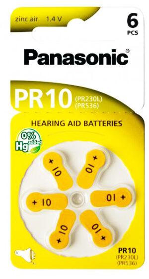 PANASONIC μπαταρίες ακουστικών βαρηκοΐας PR10