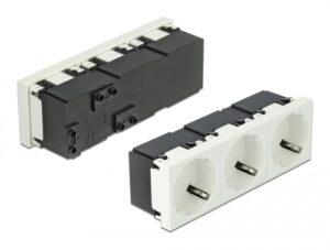 DELOCK τριπλό module πρίζας ρεύματος Easy 45 81323