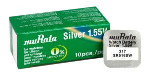 MURATA μπαταρία Silver Oxide για ρολόγια SR516SW