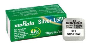 MURATA μπαταρία Silver Oxide για ρολόγια SR521SW
