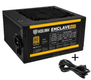 Kolink Enclave 80 PLUS Gold PSU modular 600 Watt PC Power Supply - With Cable - NEKL-027