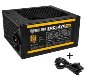 Kolink Enclave 80 PLUS Gold PSU modular 700 Watt PC Power Supply - With Cable - NEKL-028