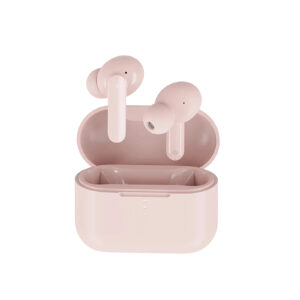 QCY T10 TWS PINK Dual Armature Driver 4-mic noise cancel. True Wireless Earbuds Quick Charge 600mAh - 6957141406625