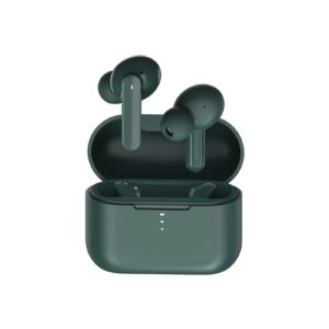 QCY T10 TWS GREEN Dual Armature Driver 4-mic noise cancel. True Wireless Earbuds Quick Charge 600mAh - 6957141406618