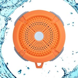 """The name says it all for the BT Wild 201 Bluetooth loudspeaker. The """"rugged"""" design speaker in black/grey and orange/blue is dust and water resistant in accordance with IP67 certification. - MAC AUDIO"""