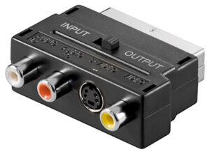 GOOBAY αντάπτορας SCART 21-pin αρσενικό σε 3x RCA θηλυκό 50123