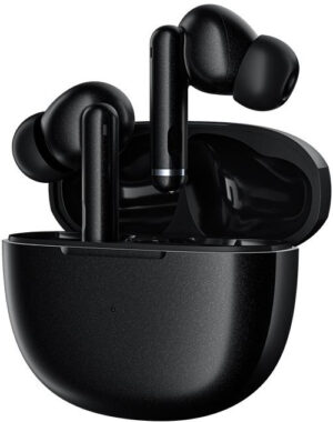 QCY HT03 ANC TWS BLACK Dual Driver 4-mic noise cancel. True Wireless Earbuds - Quick Charge 600mAh - 6957141406854
